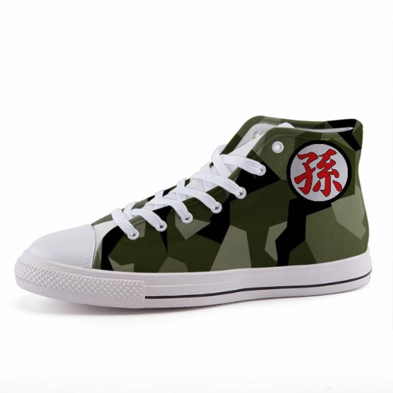 Dragon Ball Geometric Camo Gohan Kanji Sneaker Shoes