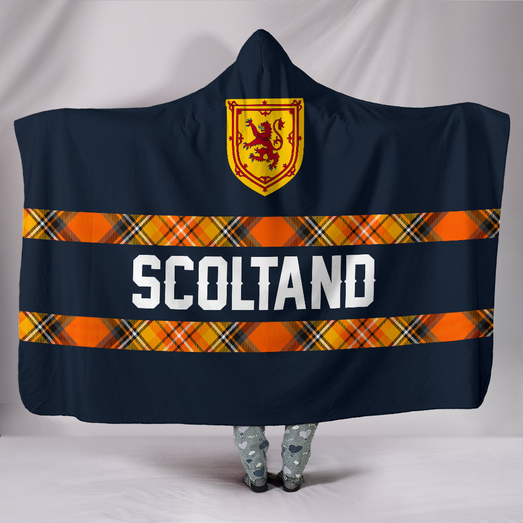 1stScotland Navy Hooded Blanket A7