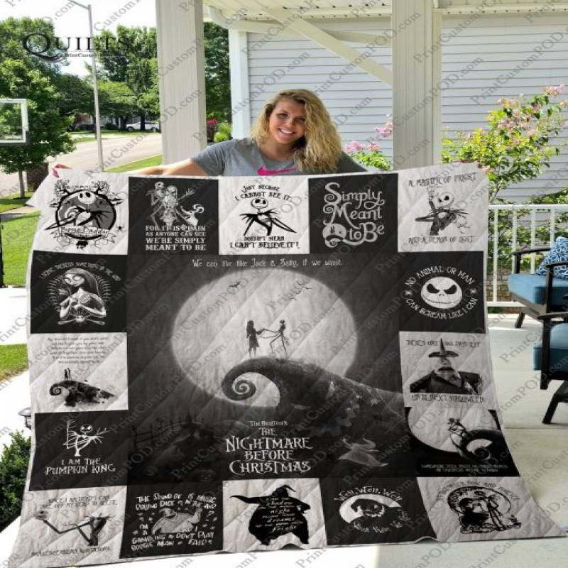 The Nightmare Before Christmas T-shirt Quilt Very