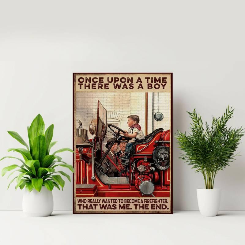 Ligerking™ FireFighter Poster HD04071