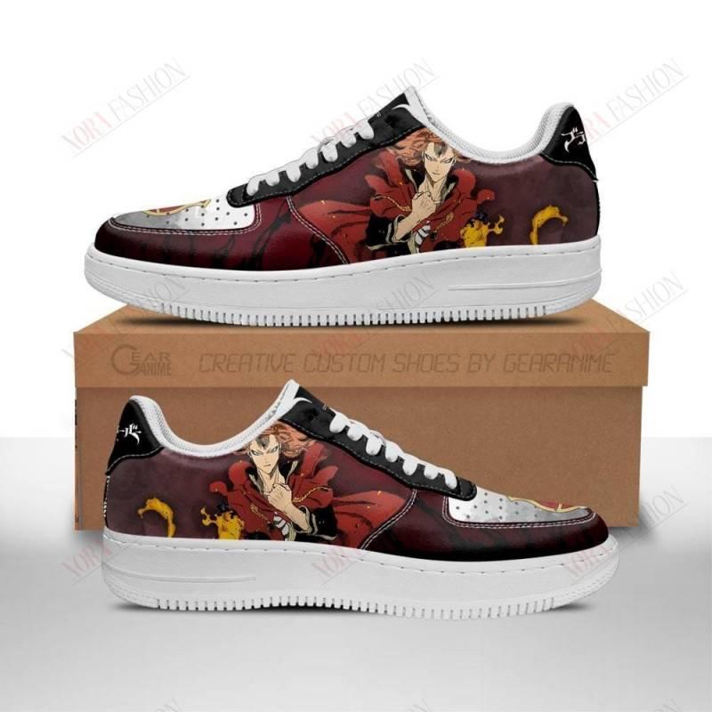 Fuegoleon Vermillion Air Sneakers Crimson Lion Knight Black Clover Anime Shoes