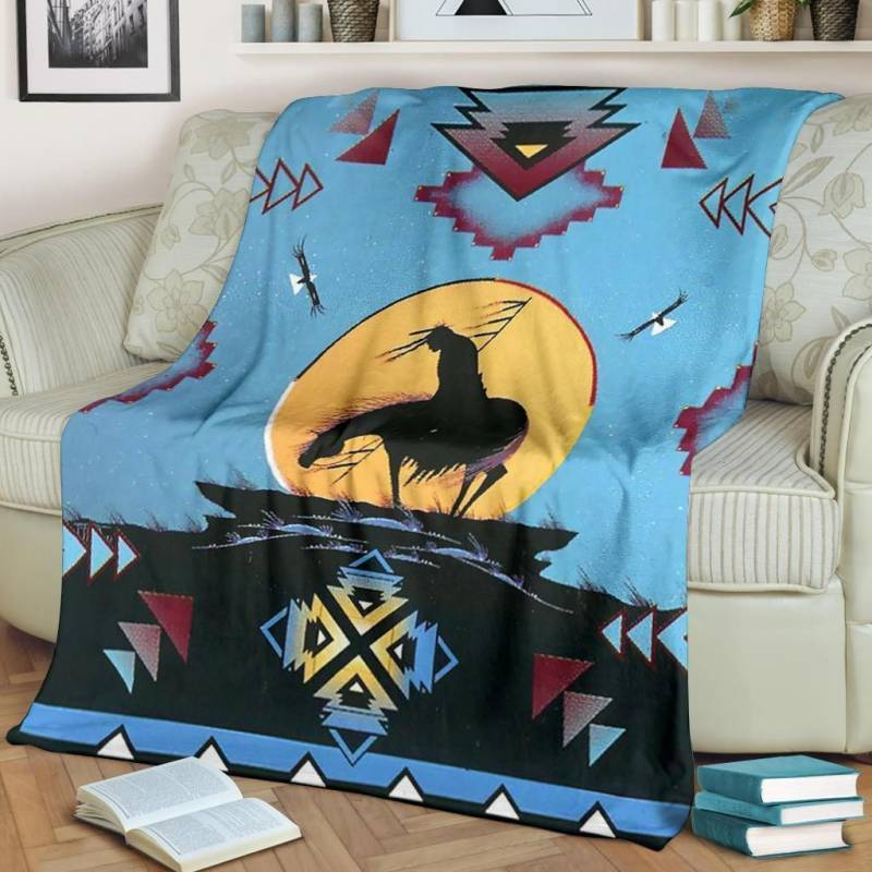Native American Blanket - End Of The Trail Native American Pride - BN01