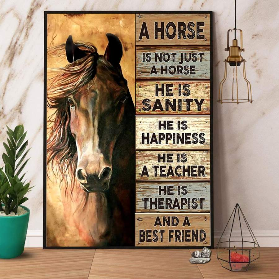 A Horse Is Not Just A Horse He is Sanity And A Best Friend Paper Poster No Frame/ Wrapped Canvas Wall Decor Full Size
