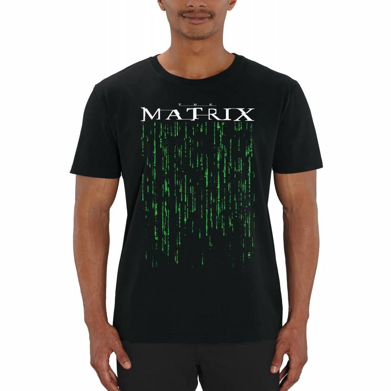 The Matrix Green Code Men's Black T-Shirt