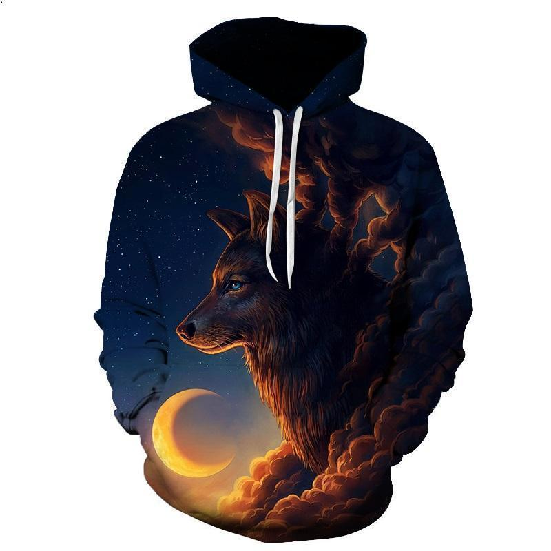 2019 Boys and Girls Popular Hoodies 3D Printed Pullover Hooded Sweatshirts