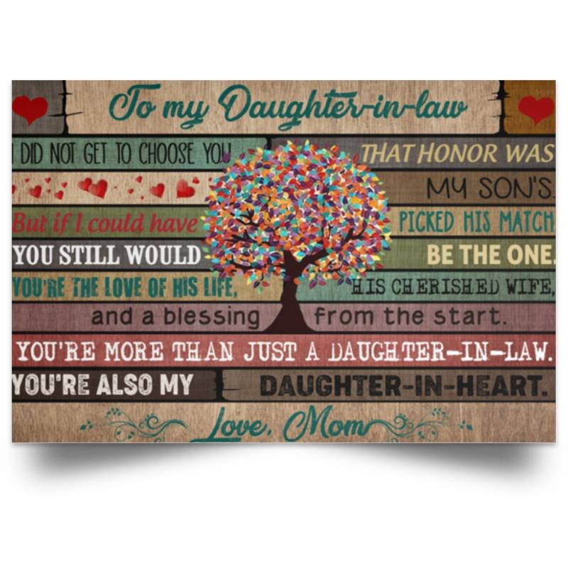 Famth To my daughter-in-law you're also my daughter-in-heart Poster No Frame