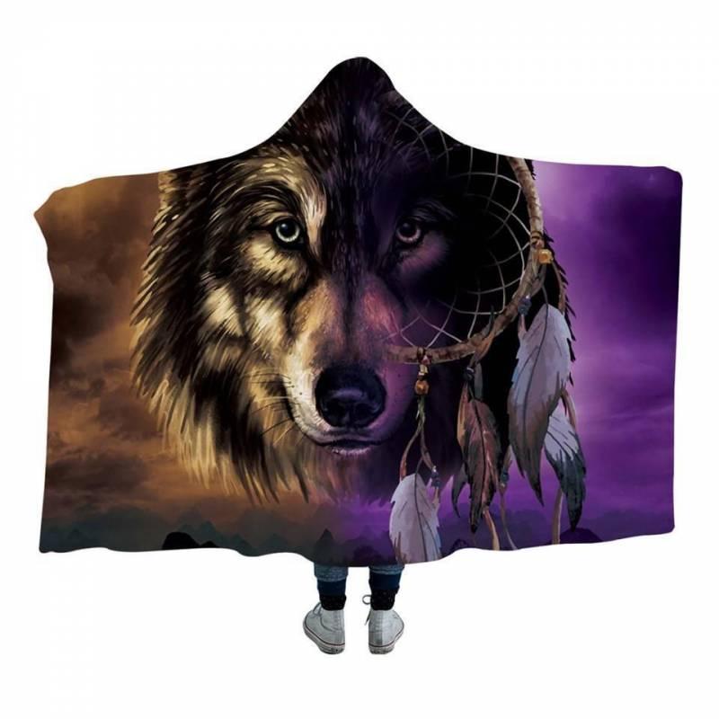 Wolf Dream Hoodie Blanket