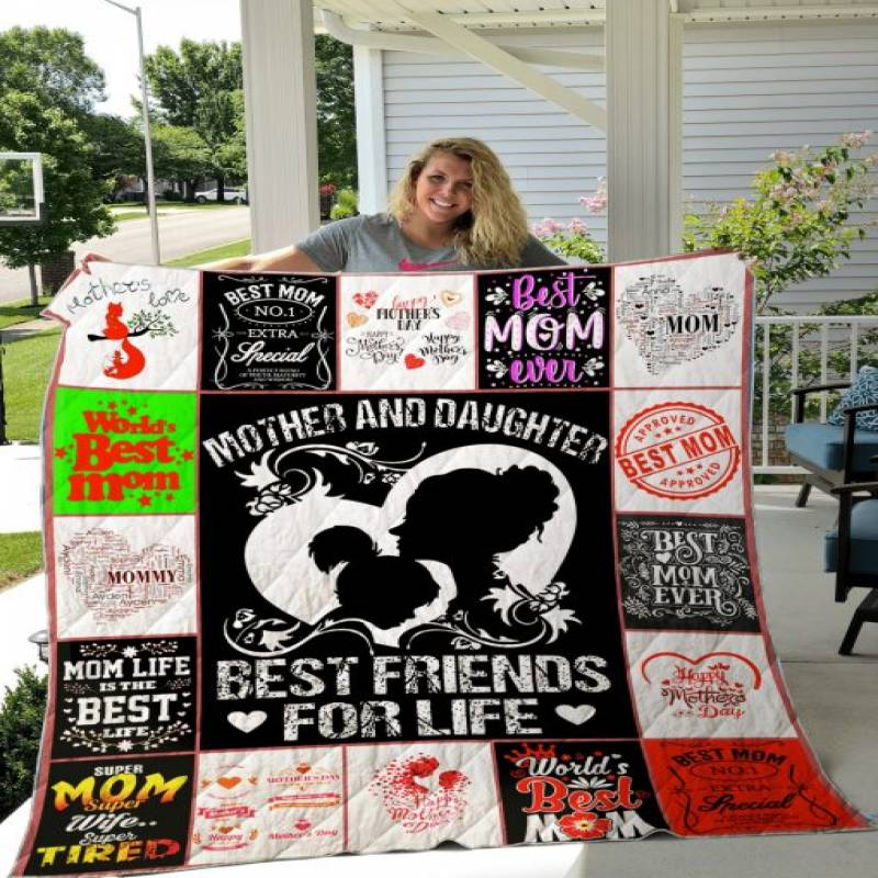 For Mom Quilt Blanket V5