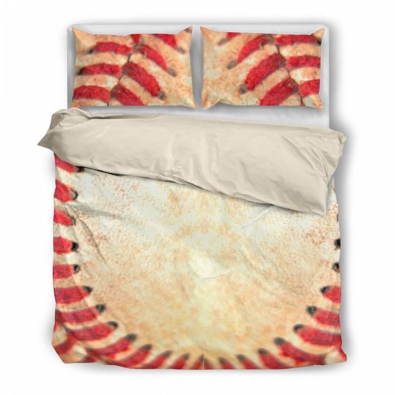 Baseball Stitches Duvet and Pillow Cover Bedding Set – Muggalicious