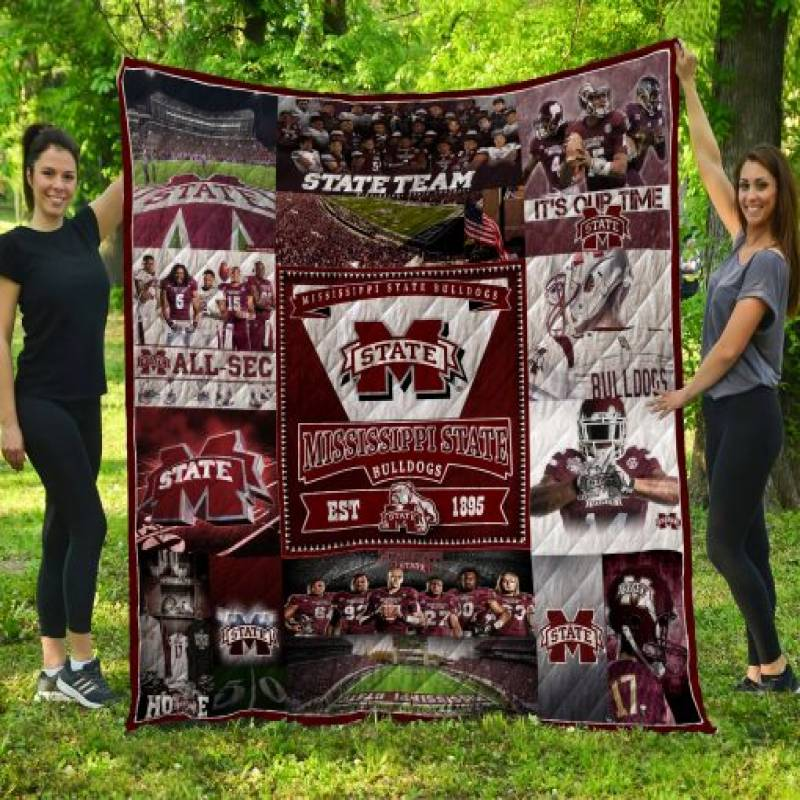 Mississippi State Bulldogs Quilt Blanket LC3