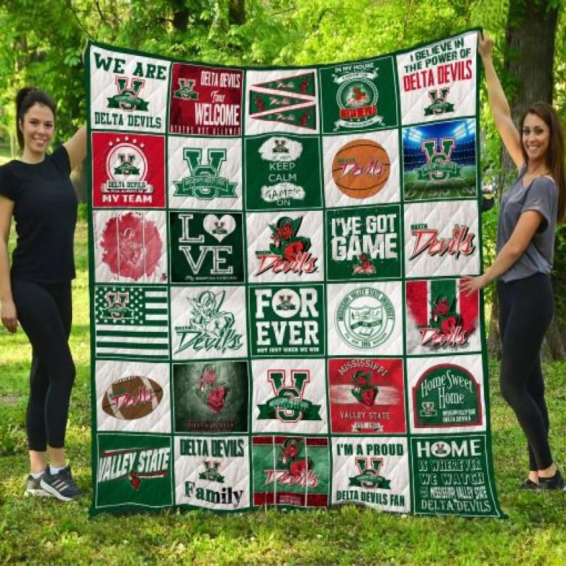 Mississippi Valley State Delta Devils Quilt Blanket LC3