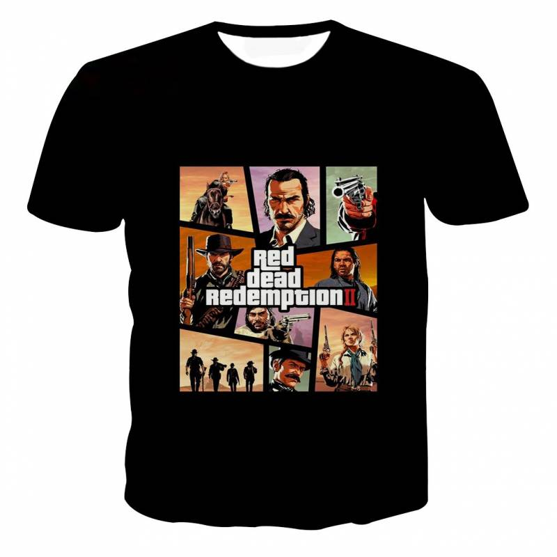 Red Dead Redemption 2 Poster GTA Style T-shirt