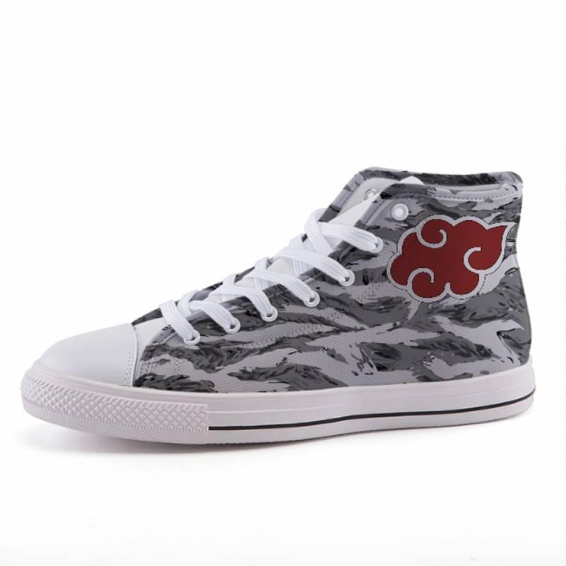 Naruto Akasuki Symbol Camo Anime Theme Sneaker Shoes