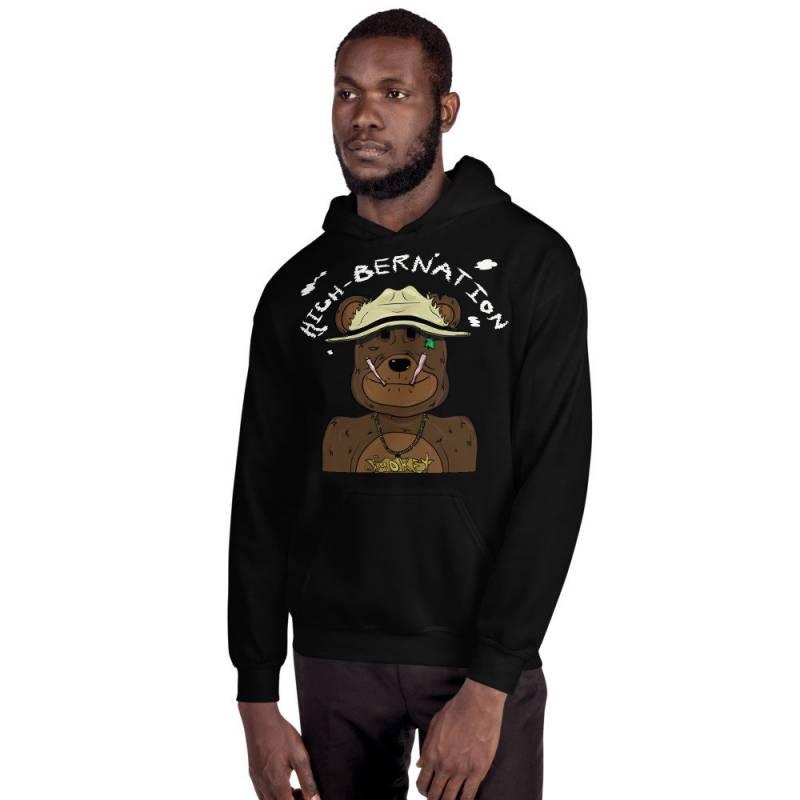 Smokey tha bear Unisex Hoodie High-bernation