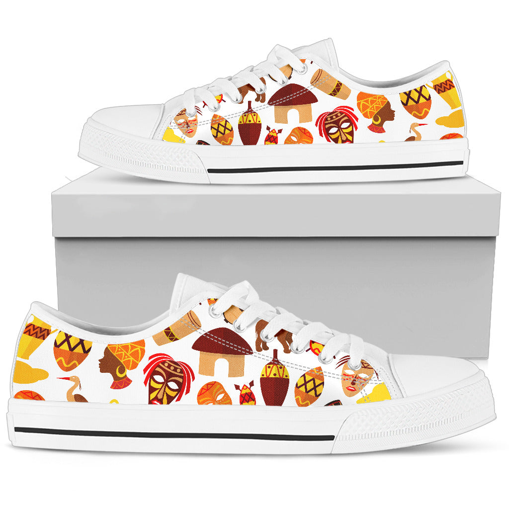 African Inspired Women's Low top Shoes (White)