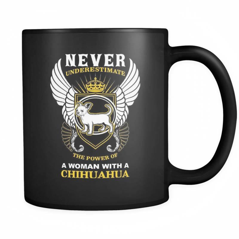 A Woman With A Chihuahua - Luxury Mug