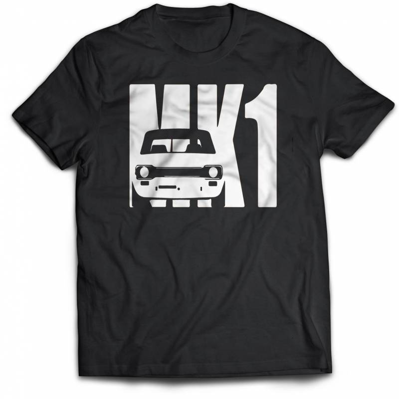 Ford Escort MK1 T-Shirt Vintage Car . Quality screen printed, various sizes