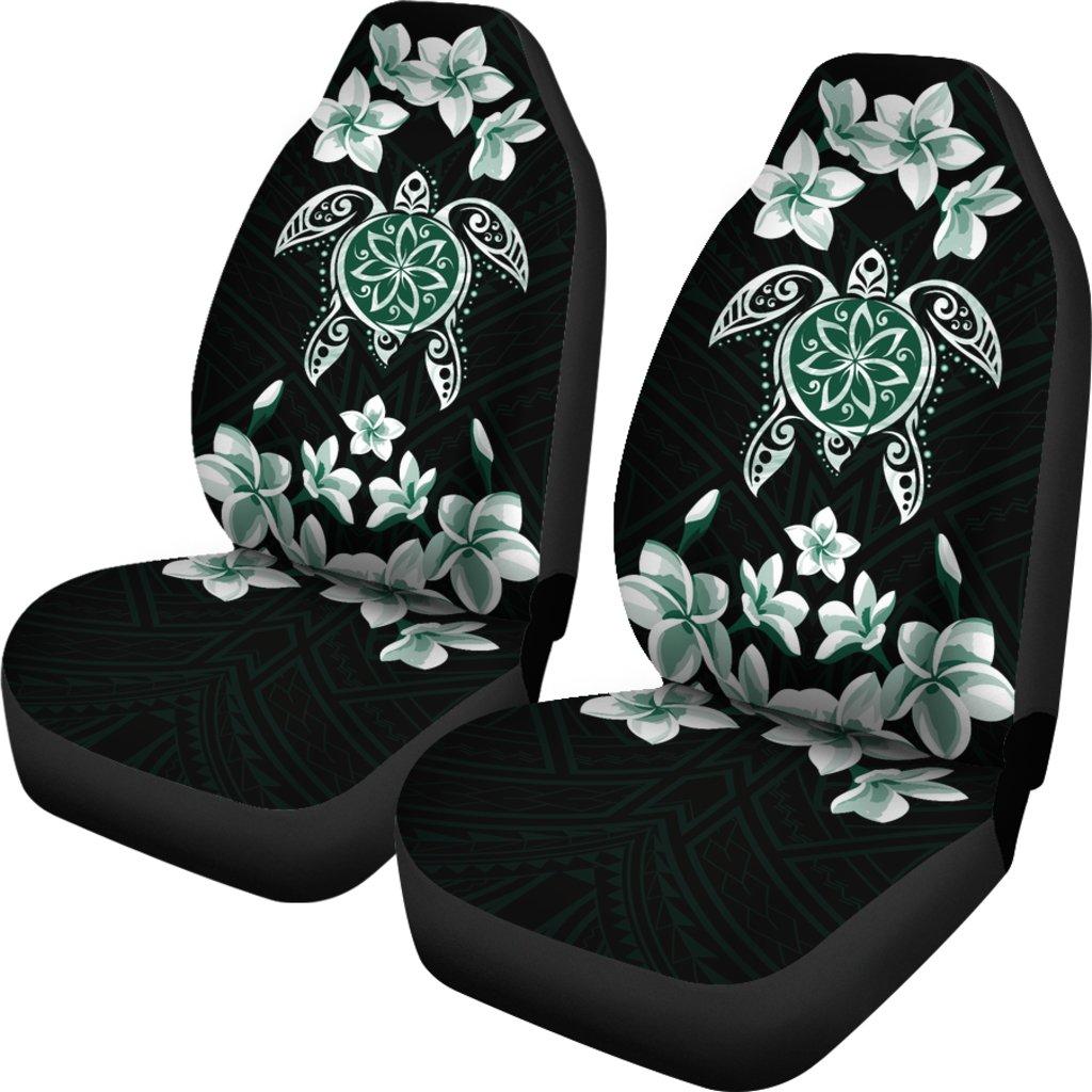 �Alohawaii Car Seat Covers – Hawaiian Greenie Turtle Plumeria – AH J0
