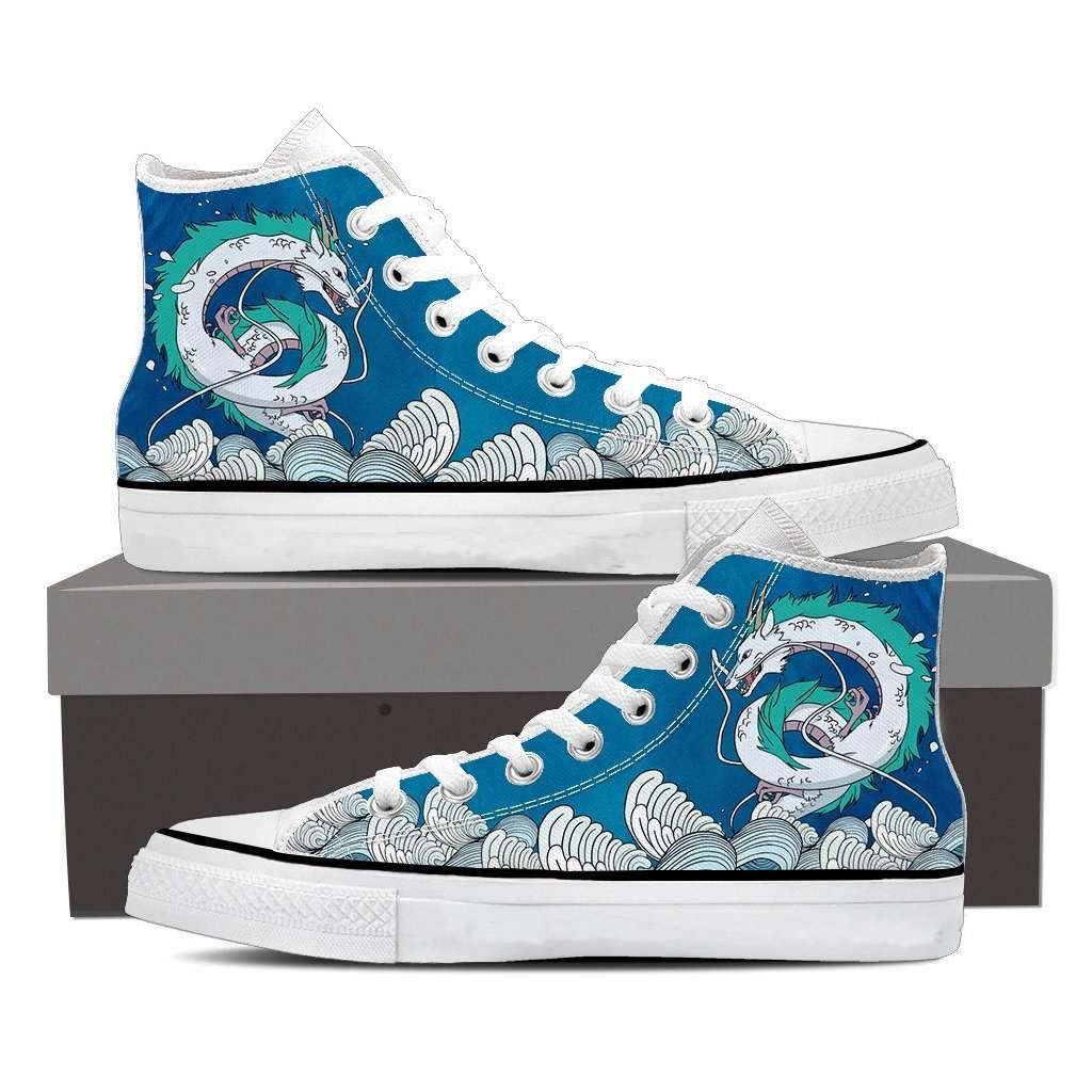 Spirited Away Haku Dragon High Top Shoes