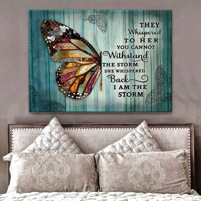 I am the storm Butterfly Poster Canvas 5232203015