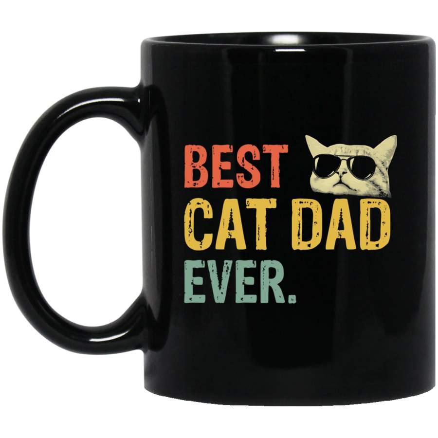 Best Cat Dad Ever Mug Cup Coffee 11 Oz 15 Oz Funny