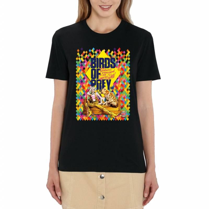 Harley Quinn Birds of Prey Movie Poster Ladies Black T-Shirt