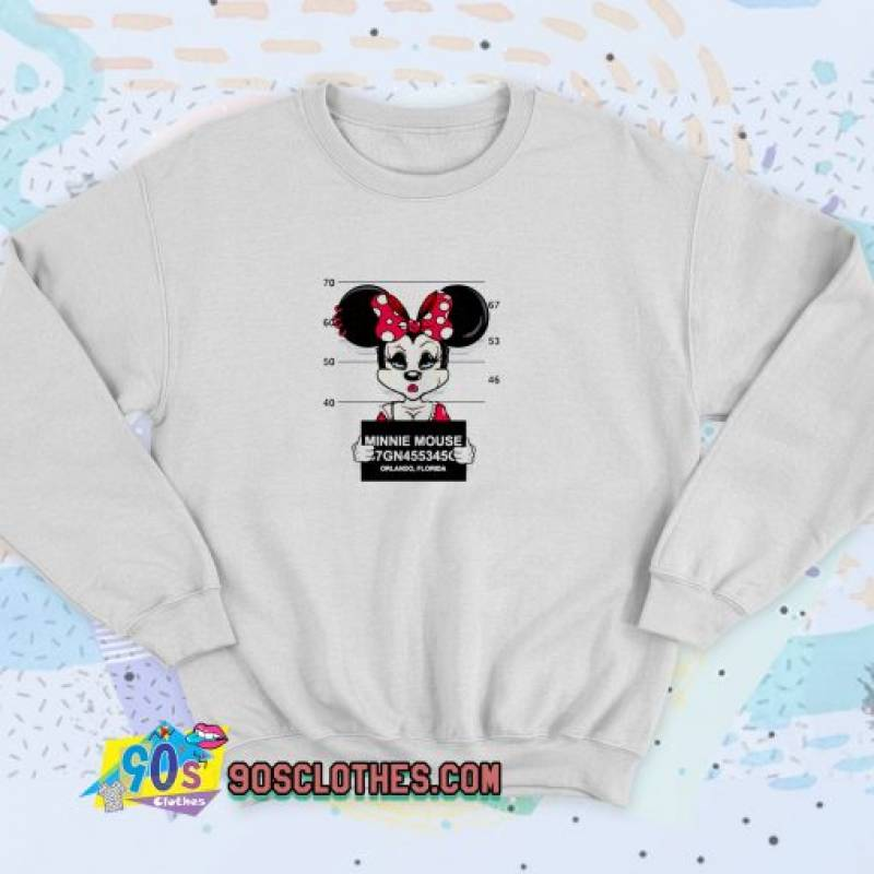 Disney Minnie Mouse Mugshot Unisex Sweatshirt