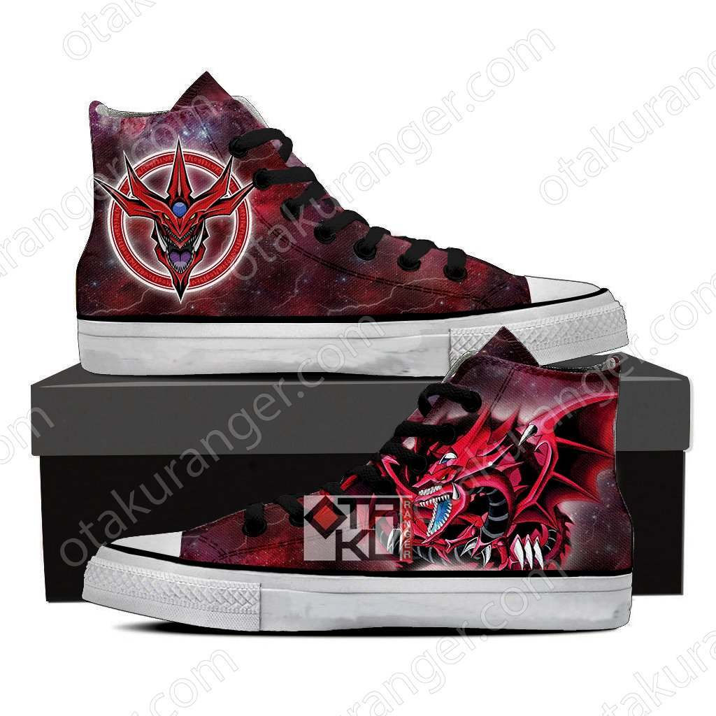 Yu Gi Oh! Yami Yugi And Slifer the Sky Dragon 3D High Top Shoes