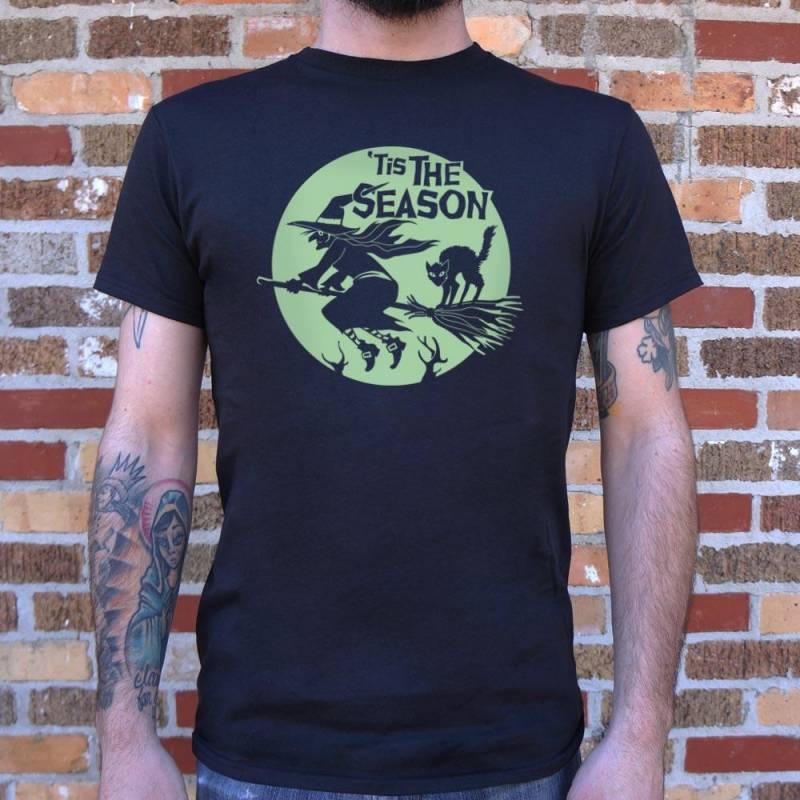 'Tis The Season Witch Halloween T-Shirt (Mens)
