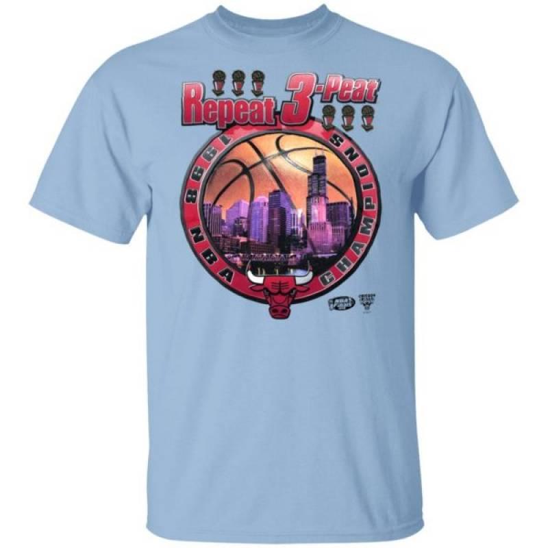 Repeat 3 Peat Chicago Bulls Shirt
