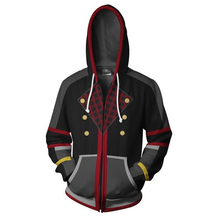2019 Kingdom Hearts Hoodies  Sora Zip Up Hoodie Sweatshirt  Pockets
