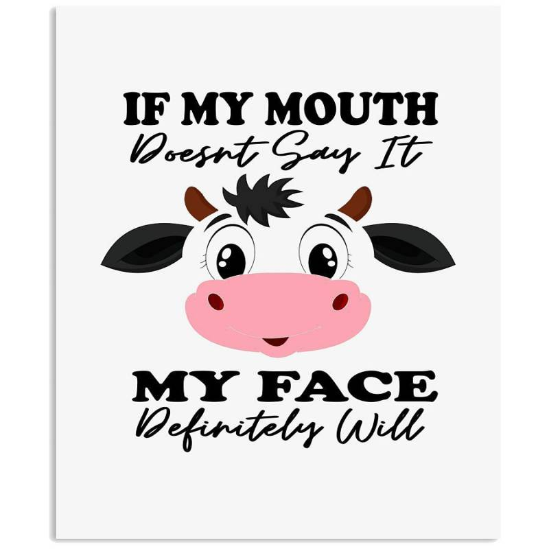 Cute Cow T-shirt For Cow Lovers Vertical Poster