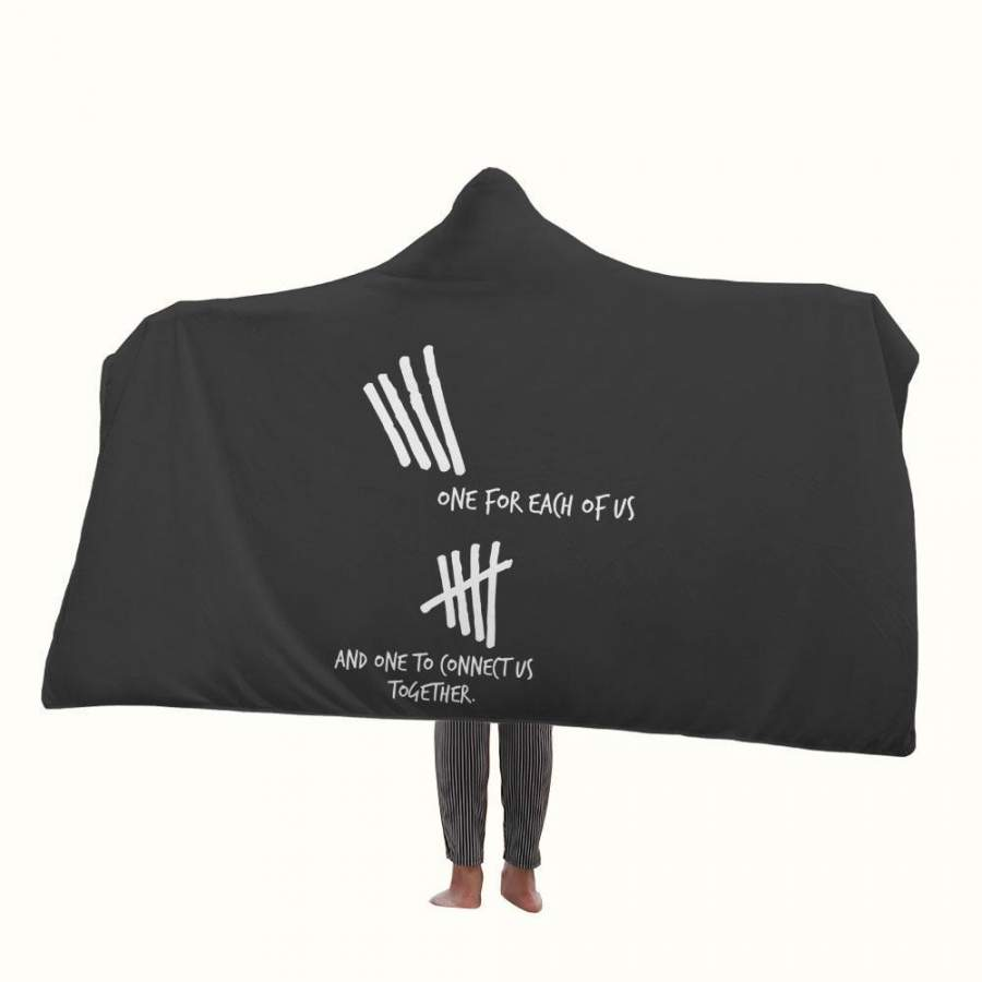 5SOS One for Each of Us Hooded Blanket