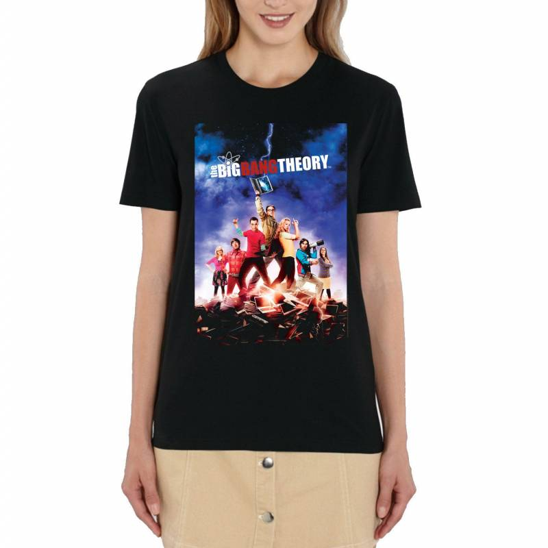 The Big Bang Theory Classic Poster Ladies Black T-Shirt
