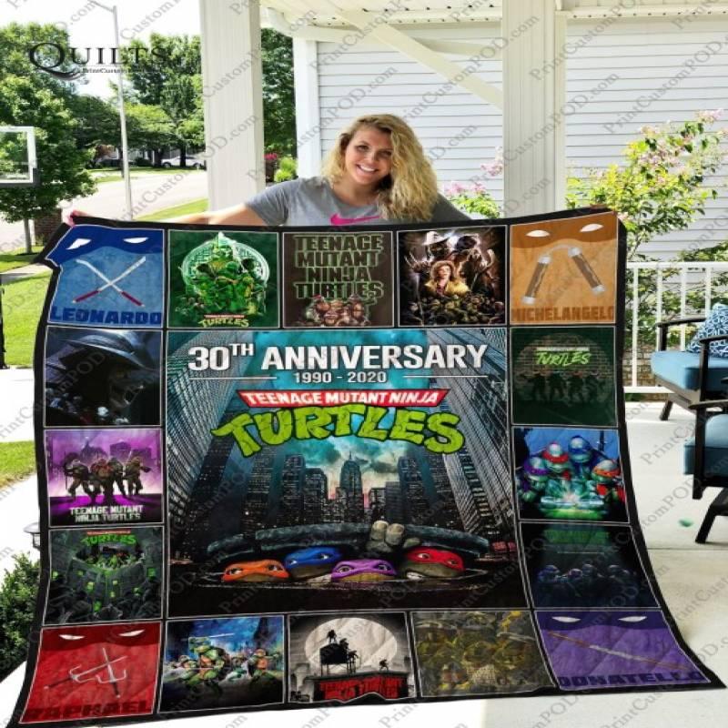 30th anniversary teenage mutant ninja turtles quilt blanket – Saleoff 200520