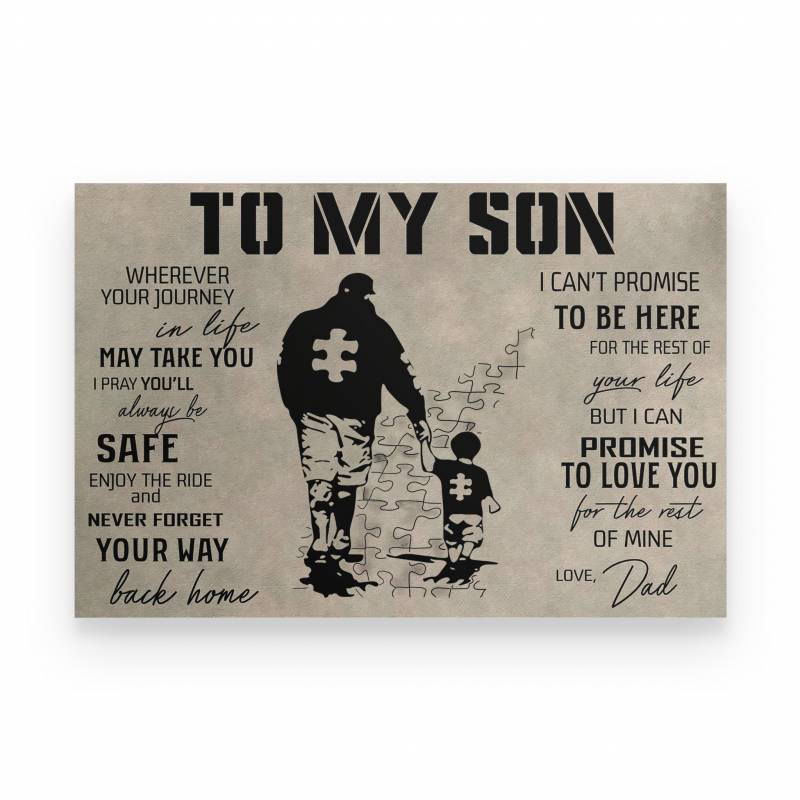 Autism To My Son Autism - Poster