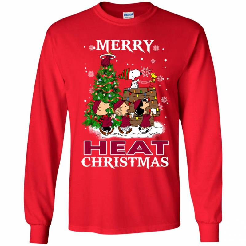 Merry Miami Heat Christmas Snoopy Ugly Sweater Style Shirts