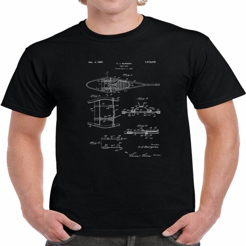 Vintage 1927 Snowshoes Patent Blueprint T Shirt