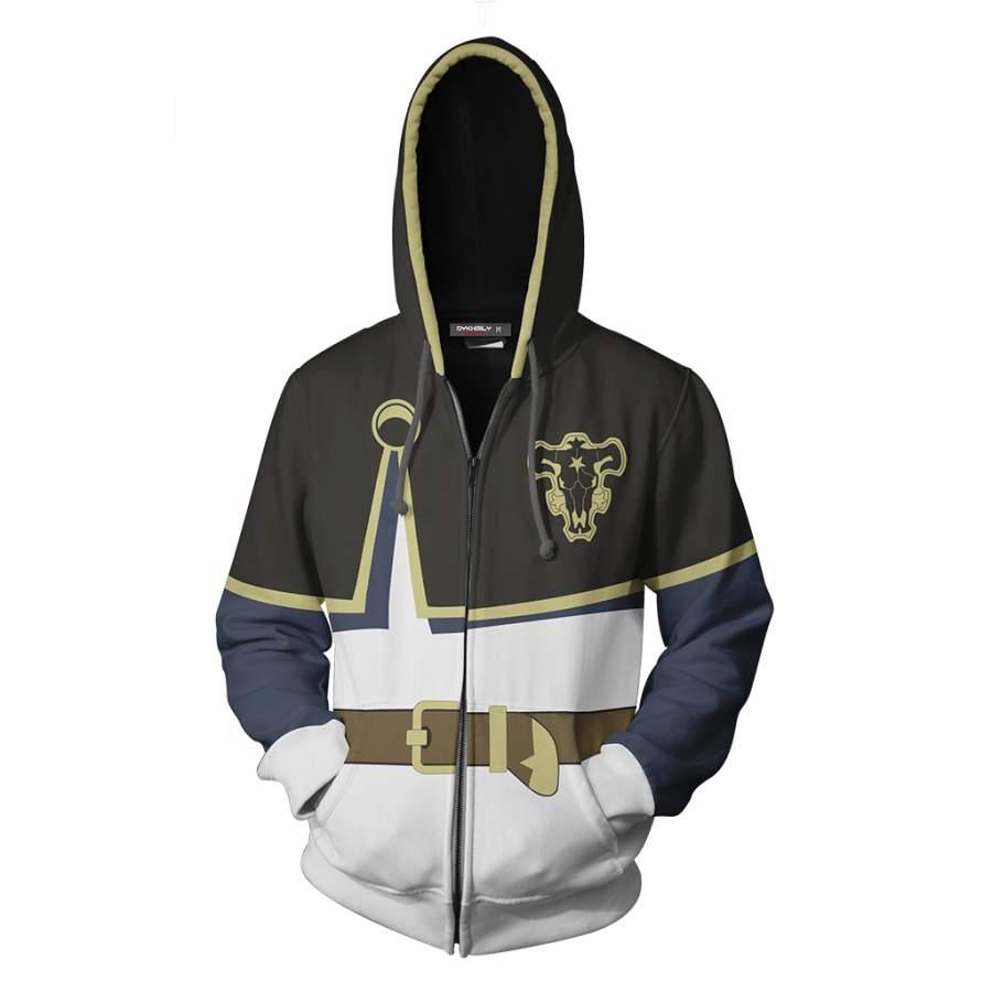 Black Clover Asta Cosplay Zip Up Hoodie Jacket - COATSY STORE