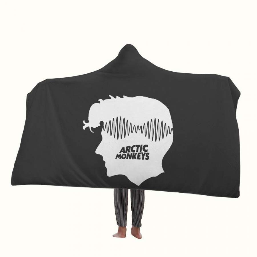 Alex Turner Arctic Monkeys Head Logo Hooded Blanket