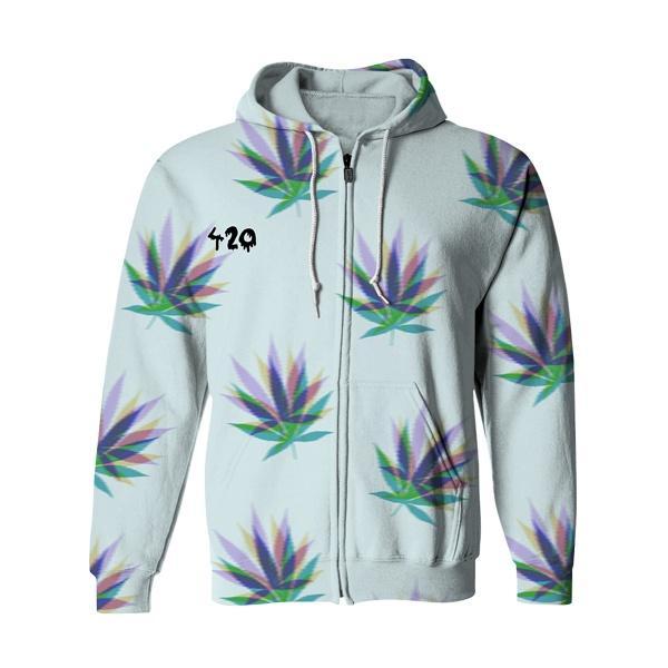 420 Cannabis Zip Up Hoodie