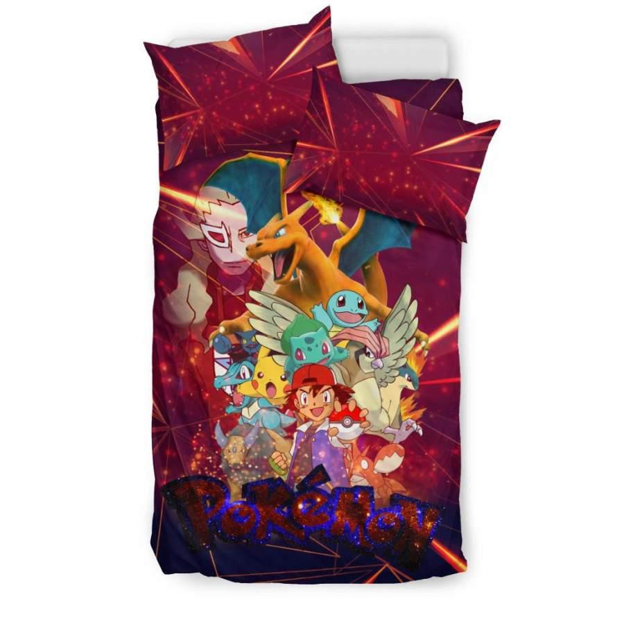 Ash Movie Poster Pokemon Bedding Set