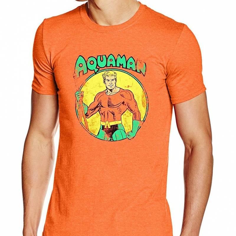 Aquaman Comic Adults Unisex Orange T-Shirt