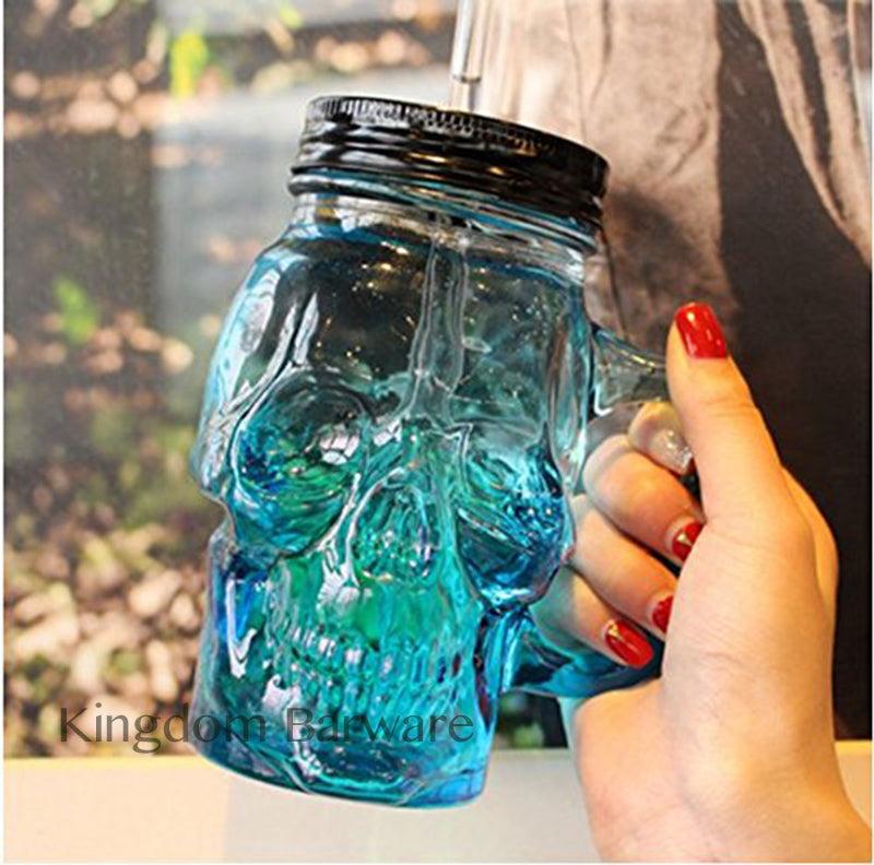 500ml Colored Skulls with the Glass Beer Mug