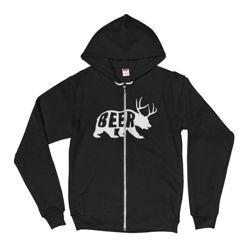 Beer Bear Deer Sunny Hoodie Sweatshirt | Hooded Vintage | Retro Hipster | Unisex Sweater