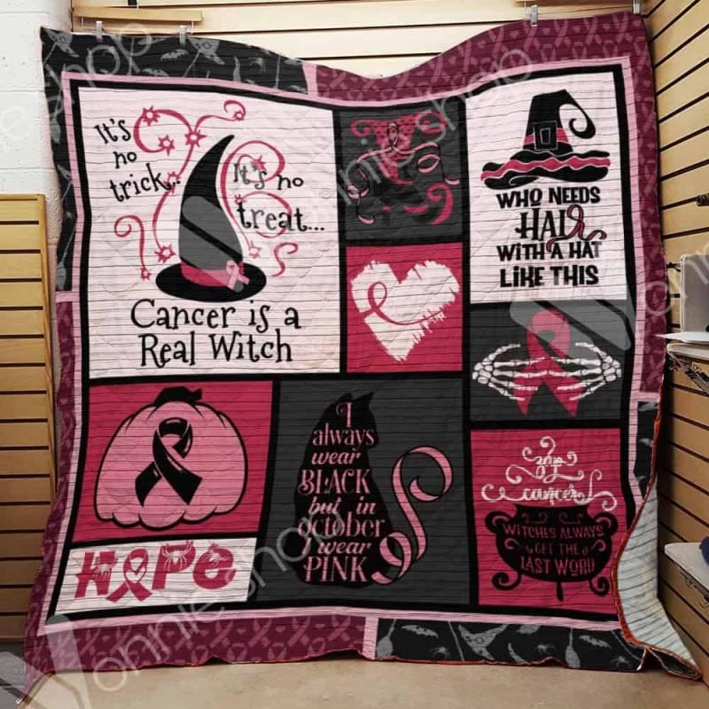 Breast Cancer Witch Blanket AU1601 95O33