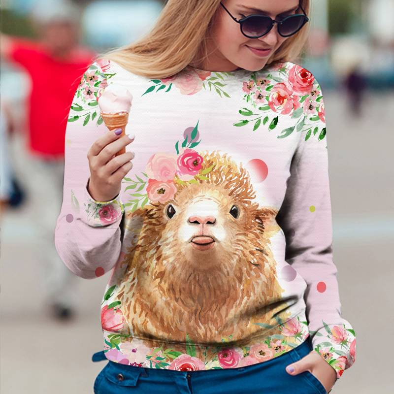 Sheep Flower T1609 - All Over Print Holiday Sweater