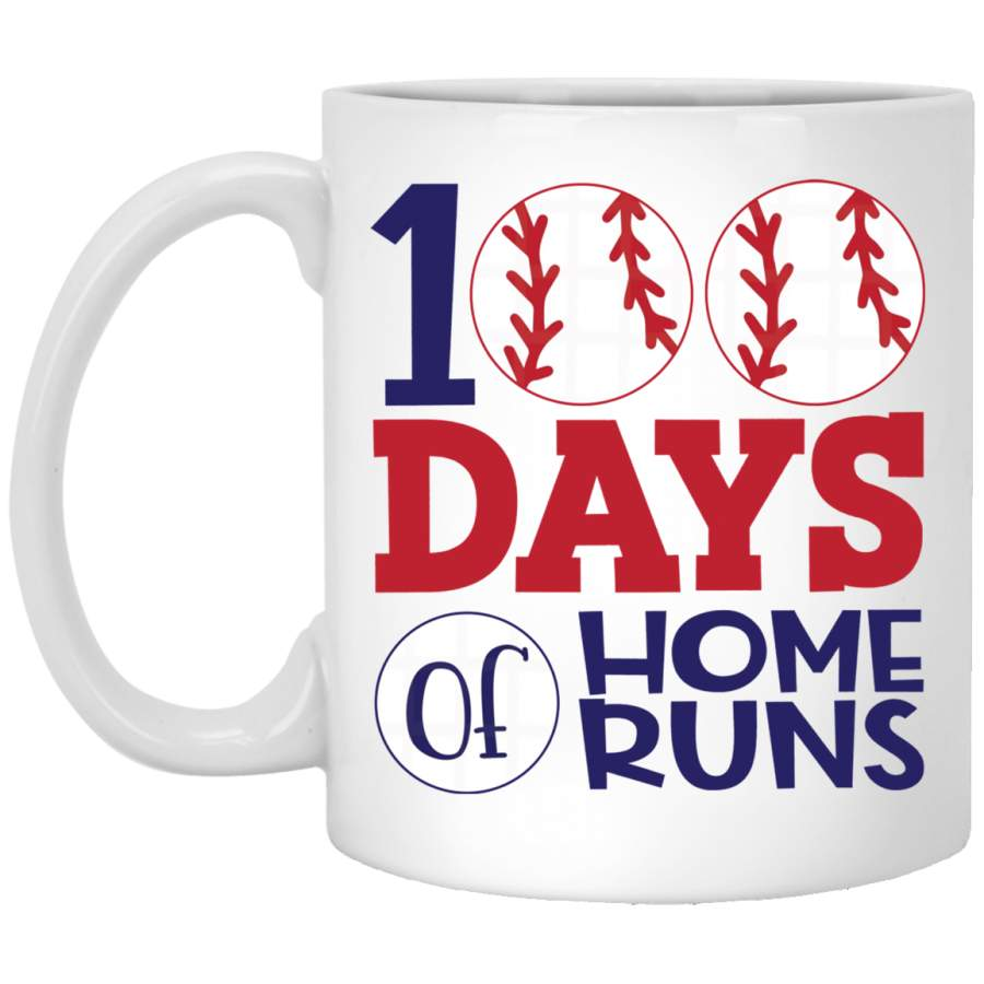 100 days of home runs mug - Gifts for teacher