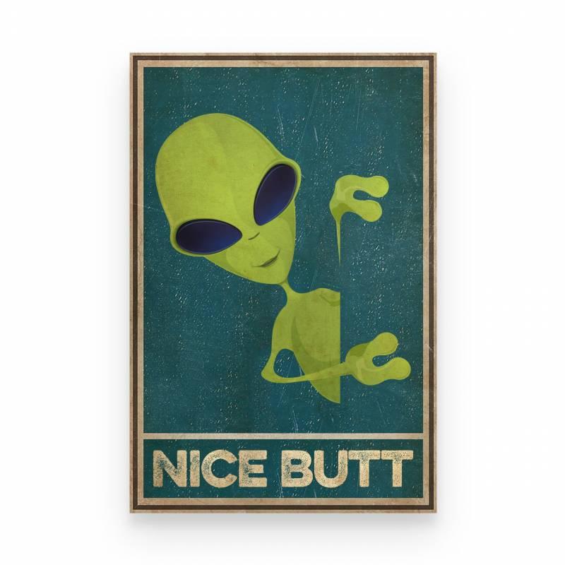 Alien Nice Butt Funny - Poster