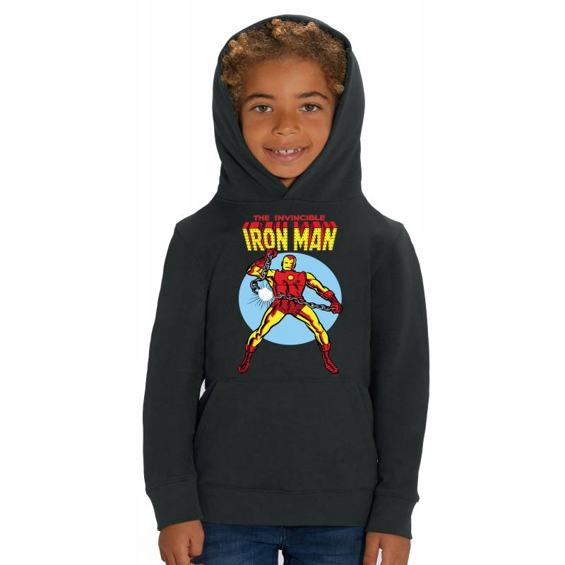 Marvel Universe The Invincible Iron Man Children's Unisex Black Hoodie